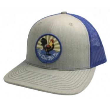 Red Dirt Hat Co. Crispy Chicken Heather Grey / Blue Cowboy Cap