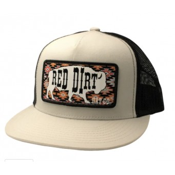 Red Dirt Hat Co. Great White Buffalo Silver/Black Cowboy Cap