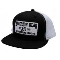 Anderson Bean Black/White Youth Snapback Cowboy Cap