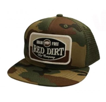Red Dirt Hat Co. Camo Youth Snapback Cowboy Cap
