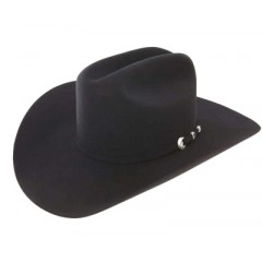 "Resistol Cowboy Hat  6X  Midnight 4 1/4"" Brim  Felt Cowboy Hat Excellent Choice For A Jason Aldean Crease"