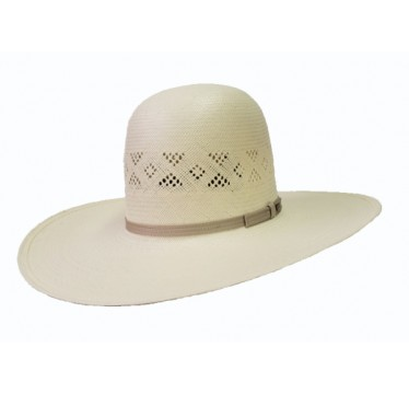 "Resistol Brantley Open Crown 4 1/4"" Brim Straw Cowboy Hat"