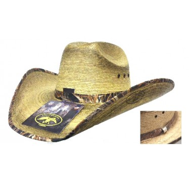 Duck Dynasty Duck Commander By Resistol Mallard Palm Straw Cowboy Hat