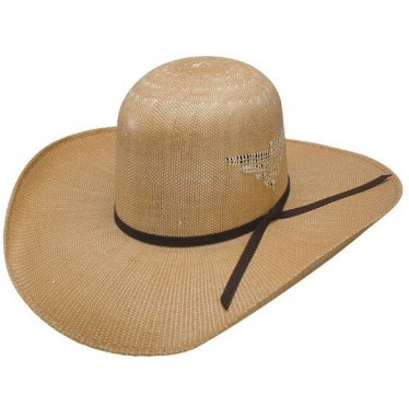 "Resistol Whiskey Wild Man 7X 4 1/4"" Brim Straw Cowboy Hat"