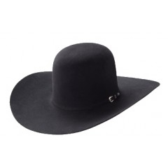 Rodeo King 30X Black Open Crown 4 7/8 Brim Felt Cowboy Hat