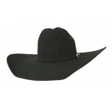 Rodeo King 3X Black Rancher Crown 4 1/2  Brim Felt Cowboy Hat