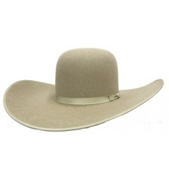 "Rodeo King 7X Ash Open Crown 4 7/8"" Brim with Bound Edge Felt Cowboy Hat"