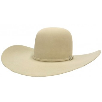 "Rodeo King 7X Buckskin Open Crown 4 7/8"" Brim Felt Cowboy Hat"
