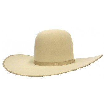 "Rodeo King 7X Buckskin Bound Edge 4 7/8"" Brim Felt Cowboy Hat"