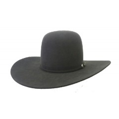 "Rodeo King 7X Charcoal Open Crown 4 1/4"" Brim Felt Cowboy Hat"