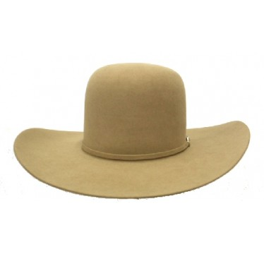 "Rodeo King 7X Pecan Open Crown 4 1/4"" Brim Felt Cowboy Hat"