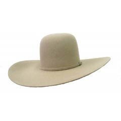 "Rodeo King 7X Ash Open Crown 4 7/8"" Brim Felt Cowboy Hat"