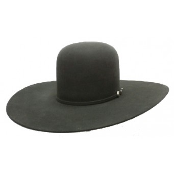 "Rodeo King 7X Charcoal Open Crown 4 7/8"" Brim Felt Cowboy Hat"