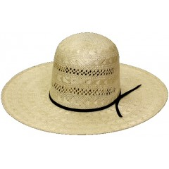 "Rodeo King Cowboy Hat  25X Rami  Open Crown 4 1/2"" Brim Straw Cowboy Hat"