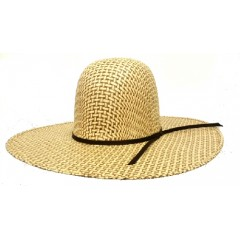 "Rodeo King Cowboy Hat Two Tone Bamboo 4 1/2"" Straw Cowboy Hat"