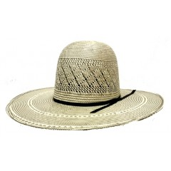 "Rodeo King Two Tone 4 1/4"" Brim ""Stormy"" Vented Straw Cowboy Hat"