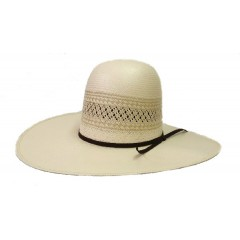 "Rodeo King Cowboy Hat 25X Two Tone 4 1/4"" Brim Straw Cowboy Hat"