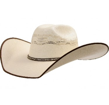 "Atwood™ Hat Company Stephenville Bangora Chocolate Bound Edge 4.5"" Brim Straw Hat"