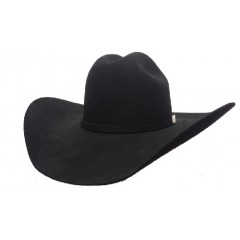 Serratelli Rodeo Collection 2X  Signature Black 4 1/2 Brim Fur Felt Cowboy Hat