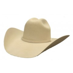 Serratelli Rodeo Collection 2X  Signature Bone  4 1/2 Brim Fur Felt Cowboy Hat