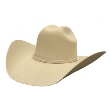 Serratelli Rodeo Collection 2X  Signature Bone  4 1/2 Brim Wool  Felt Cowboy Hat