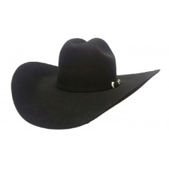 "Serratelli Hat Company 6X Beaumont 5"" Brim Black Fur Felt Cowboy Hat"