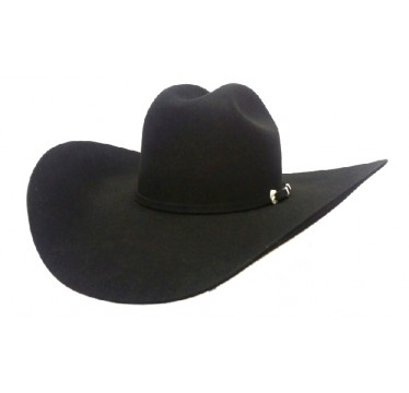 "Serratelli Hat Company 6X Beaumont 5"" Brim Black Fur Felt Cowboy Hat!"