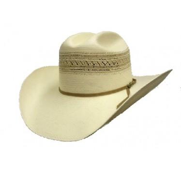 """Stetson Dunham 10X 4 1/4"""" Brim Straw Cowboy Hat"""