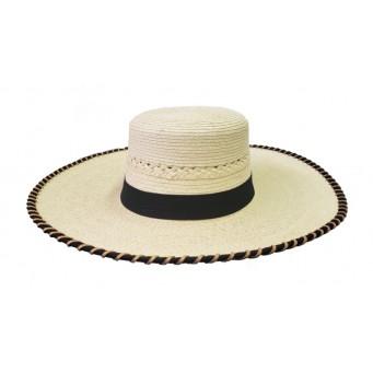 SunBody Hats Espanola Laced Brim Palm Straw Hat