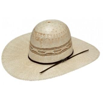 "Twister Bangora Open 4 1/4"" Brim Straw Cowboy Hat"