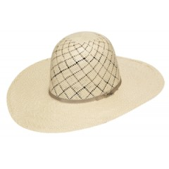 "Twister Cowboy Hat by M&F 10X Shantung Open Crown 4 1/2"" Brim Straw Cowboy Hat"