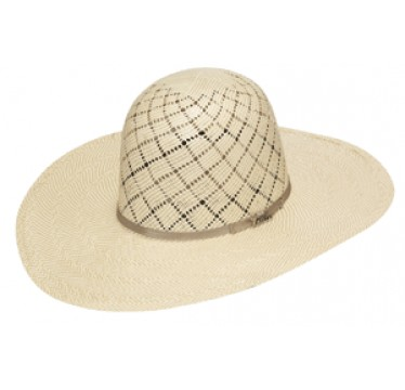 """Twister Cowboy Hat by M&F 10X Shantung Open Crown 4 1/2"""" Brim Straw Cowboy Hat"""