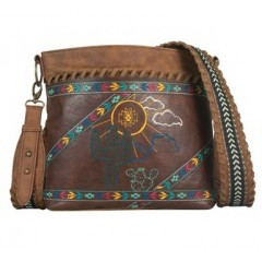 Trenditions Desert Embroidery Crossbody Purse