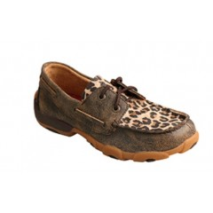 Twisted X Red Buckle Collection Distressed Leopard Casual Shoe