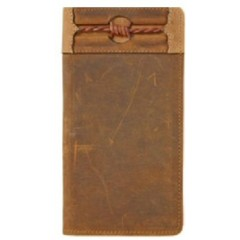 Silver Creek By Brighton Fenced In Aged Bark Checkbook Wallet
