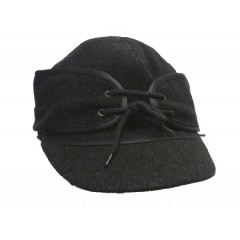 Wyoming Traders Black Australian Wool Cap