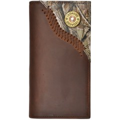 Justin Brown leather Wallet With Realtree Camo Overlay