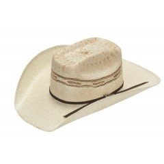 "Twister by M&F Kids Two-Tone Bangora with Brick Crown and 3 3/4"" Brim Cowboy hat"