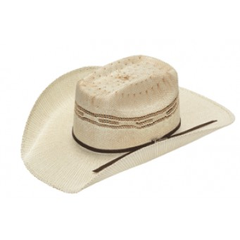 "Twister Kids Two-Tone Bangora with Brick Crown and 3 3/4"" Brim Cowboy hat"