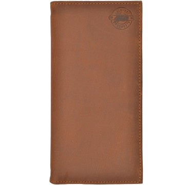 Justin Distressed Leather Wallet in Light Brown
