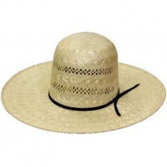 "Rodeo King Cowboy Hat 25X Rami Open Crown 5"" Brim Straw Cowboy Hat"