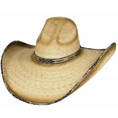 Bullhide Cowboy Hat Summerhaven 15X Palm Leaf Straw Cowboy Hat GREAT SUN AND PARTY COWBOY HAT