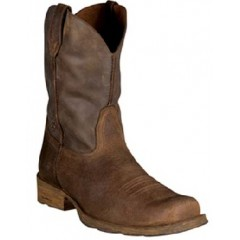 Ariat Cowboy Boots Men's Rambler Brown Bomber Wide Square Toe Cowboy Boots