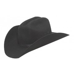 M&F Cowboy Hat Black Wool Youth Cowboy Hats