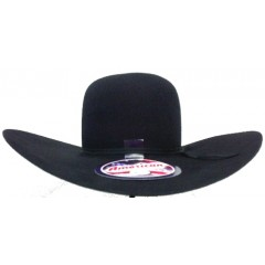 "American Hat Company 60X Black Open Crown 4 1/2"" Brim 5 1/2"" Crown Felt Cowboy Hat"