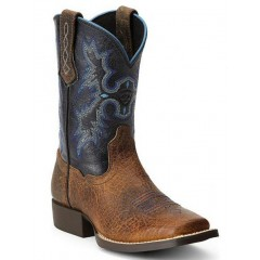 Ariat Kids Black and Brown Tombstone Cowboy Boot
