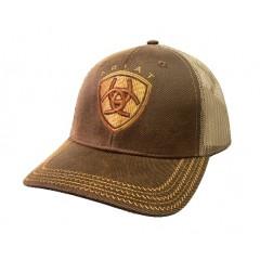 Ariat Brown Oilskin Meshback Cowboy Cap