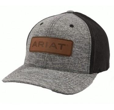 Ariat Grey and Black Flexfit Cowboy Hat