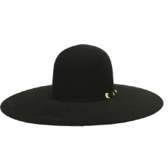 "Atwood Hat Company 20X Open Crown 5"" Brim  Black Felt Hat"
