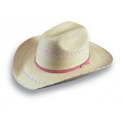 Atwood Hat Company Kids Pink Pinto Straw  Cowboy Hat